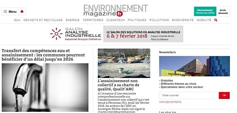 actualité sectorielle environnement magazine
